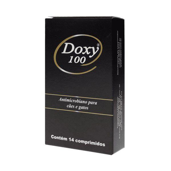 Doxy 100 Cepav Antimicrobiano Para Cães e Gatos 14 Comp.