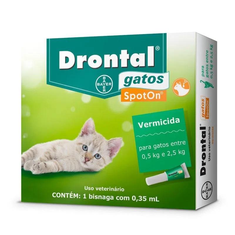 Drontal 0,35ml Vermifugo Gatos 0,5 A 2,5kg