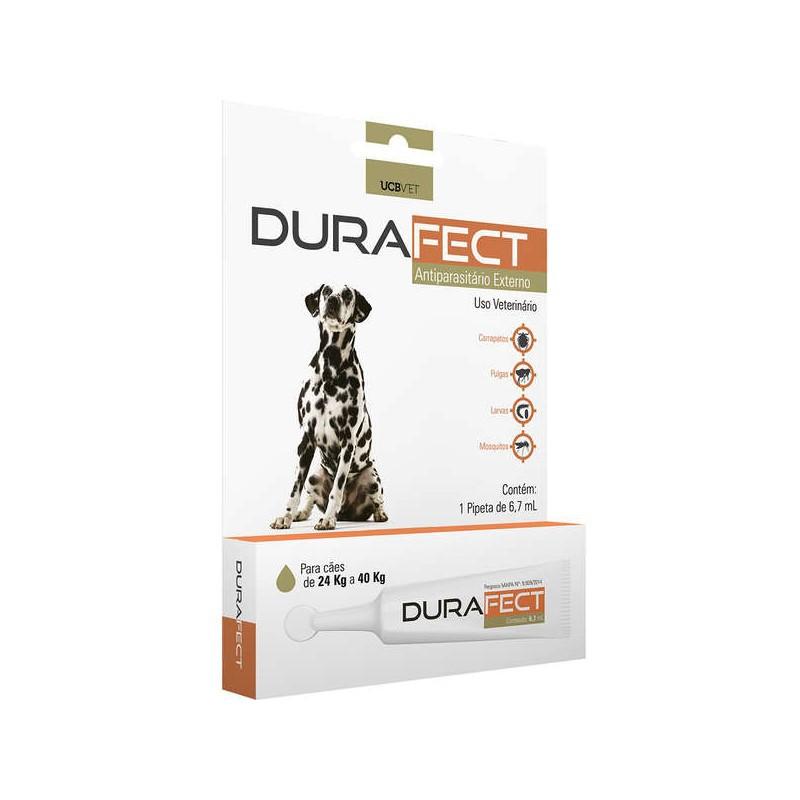 Durafect UCBVET Antipulgas Para Cães 24 a 40Kg 6,7ml