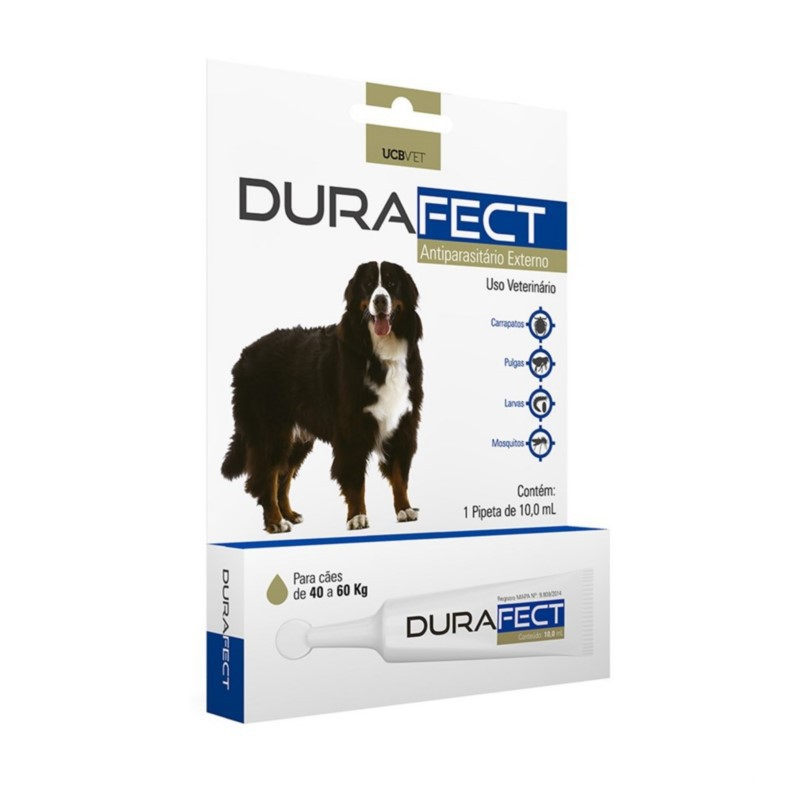 Durafect UCBVET Antipulgas Para Cães 40 a 60Kg 10,0ml