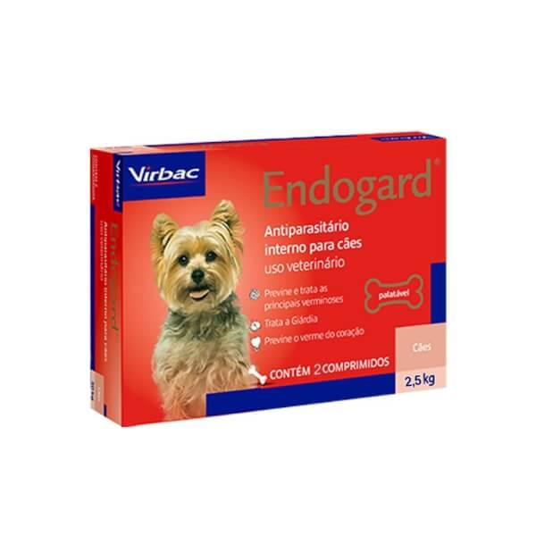 Endogard Vermífugo Para Cães 2,5kg 6 comprimidos Virbac