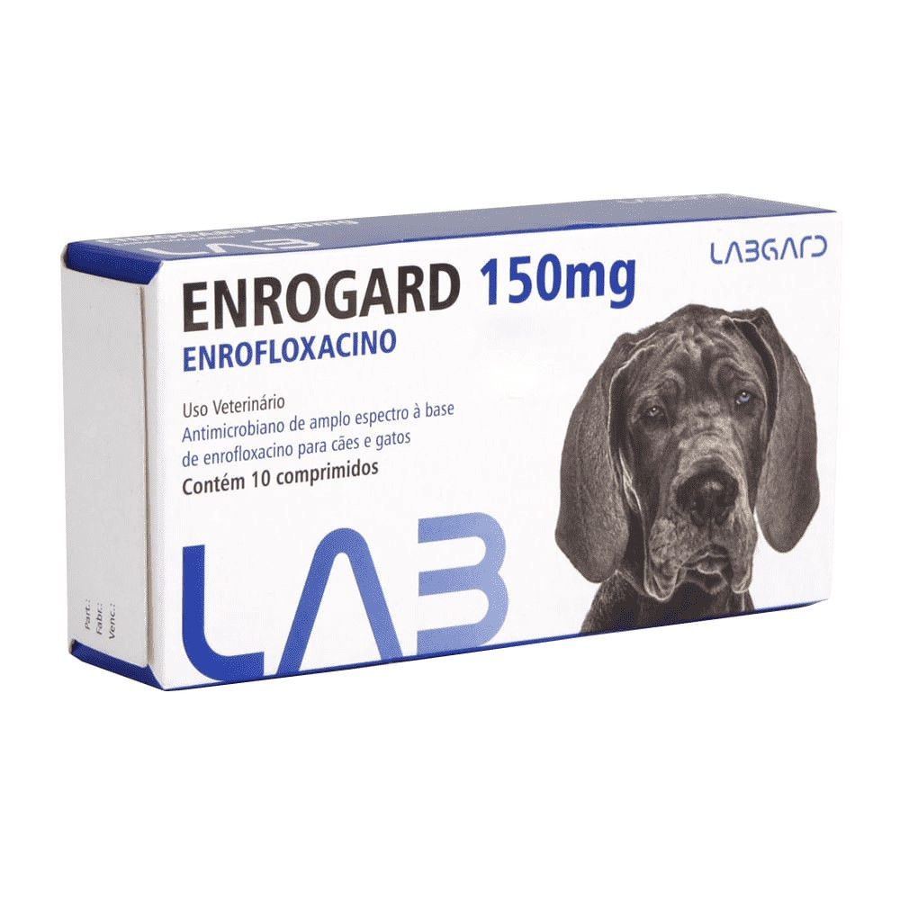 Enrogard 150 mg Antimicrobiano Cães e Gatos 10 comprimidos
