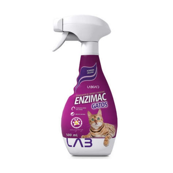 Enzimac Gatos Labgard Eliminador De Odores Spray 500ml