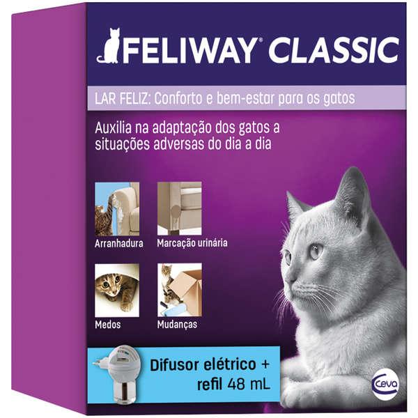 Feliway Classic 1 Difusor + 1 Refil 48 Ml Ambientador