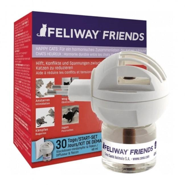 Feliway Friends Difusor Elétrico + Refil 48 Ml Ceva