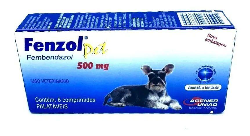 Fenzol Pet 500mg  Para Cães  6 Comprimidos
