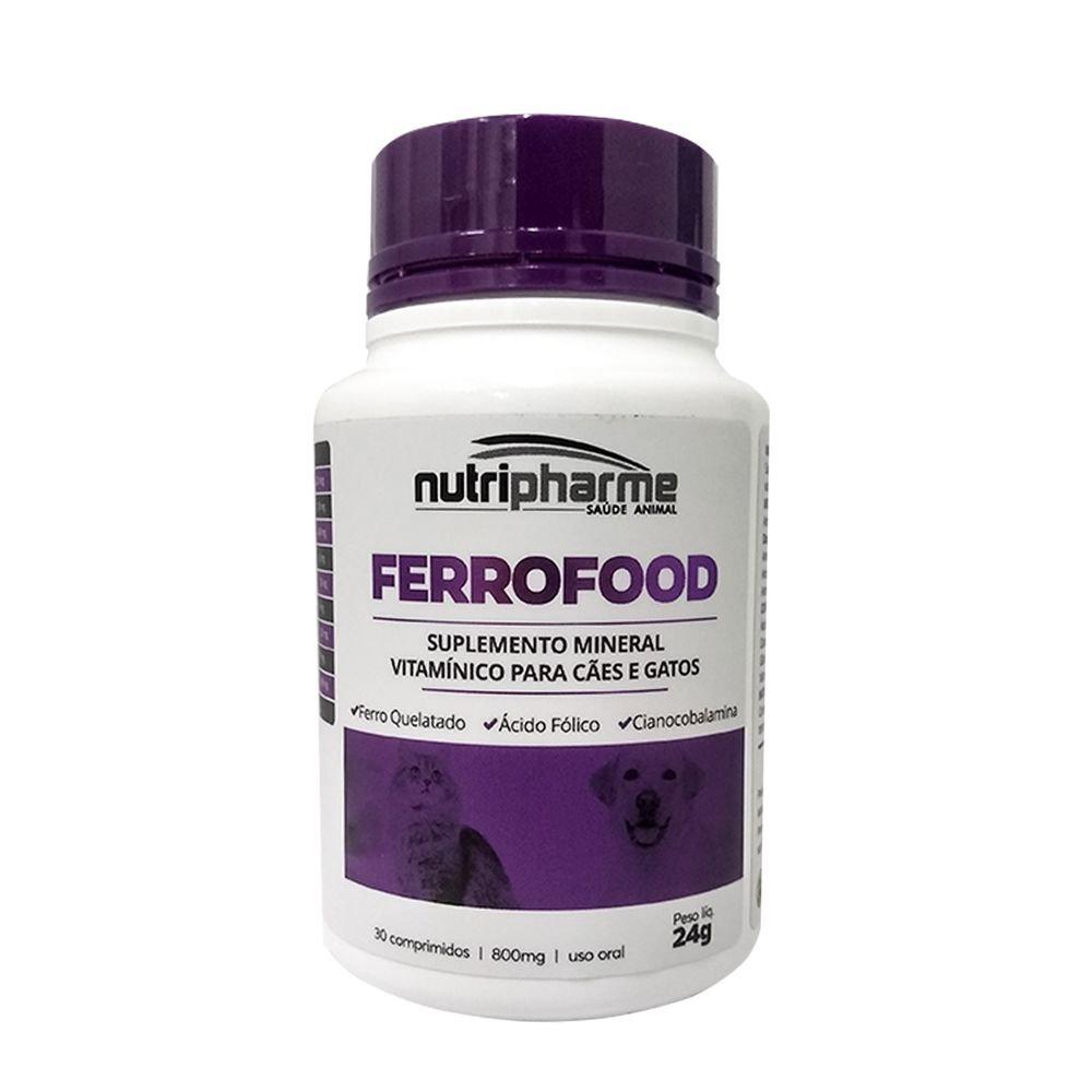 Ferrofood 24g Suplemento Mineral Nutripharme 30 Comprimidos