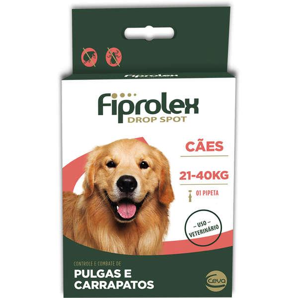 Fiprolex Antipulgas Cães 21 A 40kg - Ceva 1 Pipeta 2,68ml