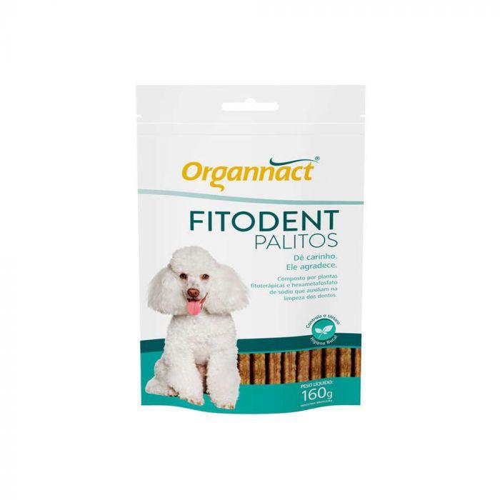 Fitodent Palitos 160g Organnact Higiene Bucal Para Cães