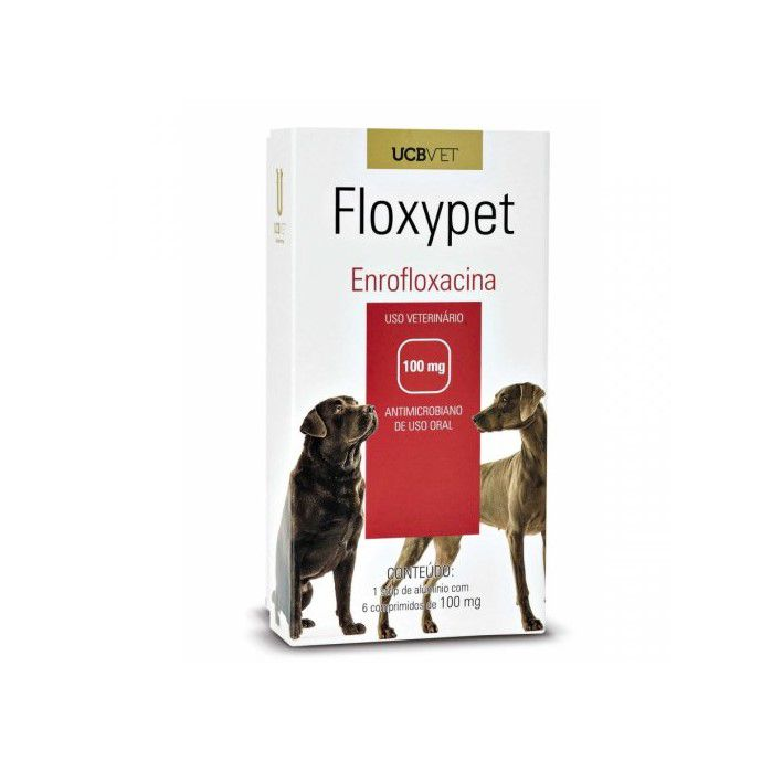 Floxypet Enrofloxacina 100mg 6 Comp Para Cães