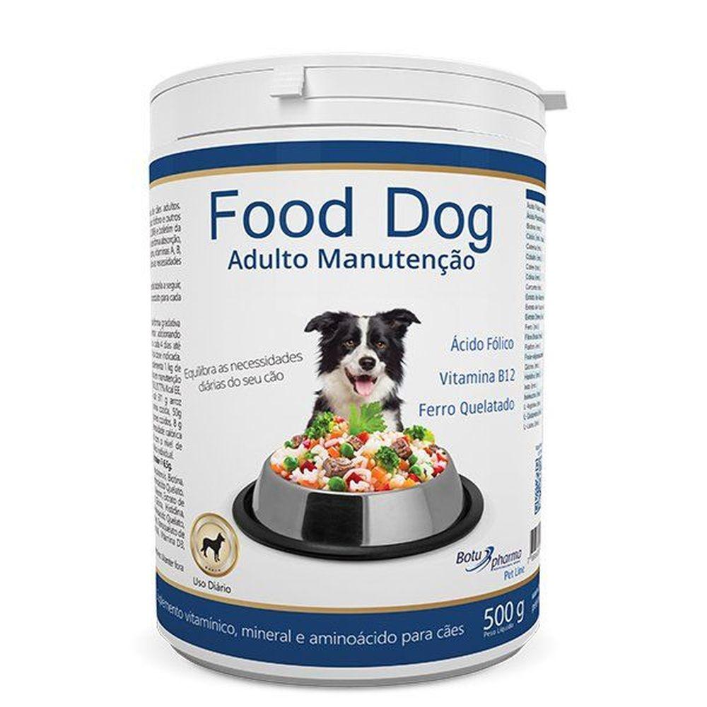 Food Dog Adulto Manutenção 500 Gr - Botupharma