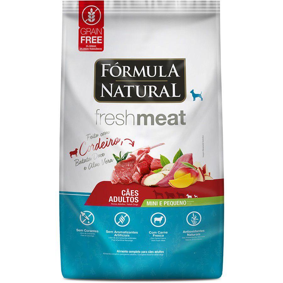 Ração Fórmula Natural FreshMeat Cães Ad Cordeiro Mini Peq1kg