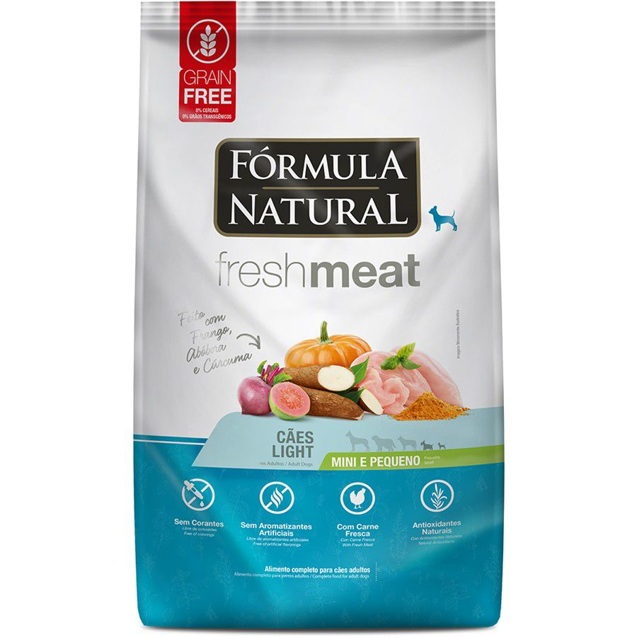 Ração Fórmula Natural Fresh Meat Cães Ad.Light Mini E Peq1kg