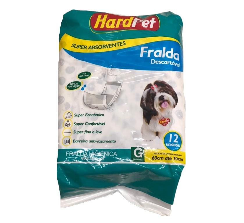 Fralda Higiênica Hard Pet Para Cães Machos 12 Unidades - Tamanho G