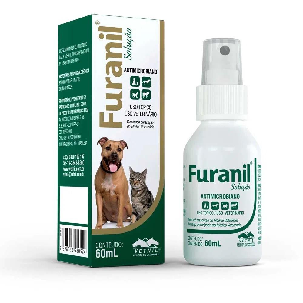 Furanil Spray Solução Antimicrobiano Vetnil 60ml