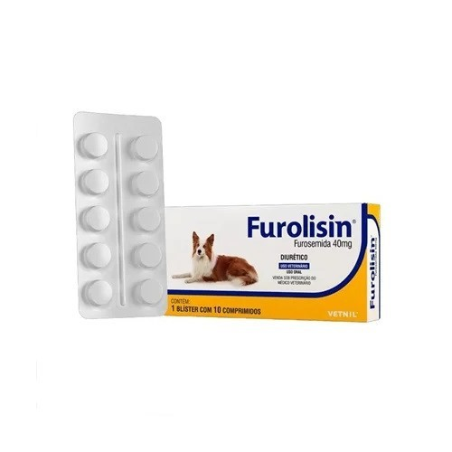 Furolisin 40mg para Cães e Gatos com 10 Comprimidos
