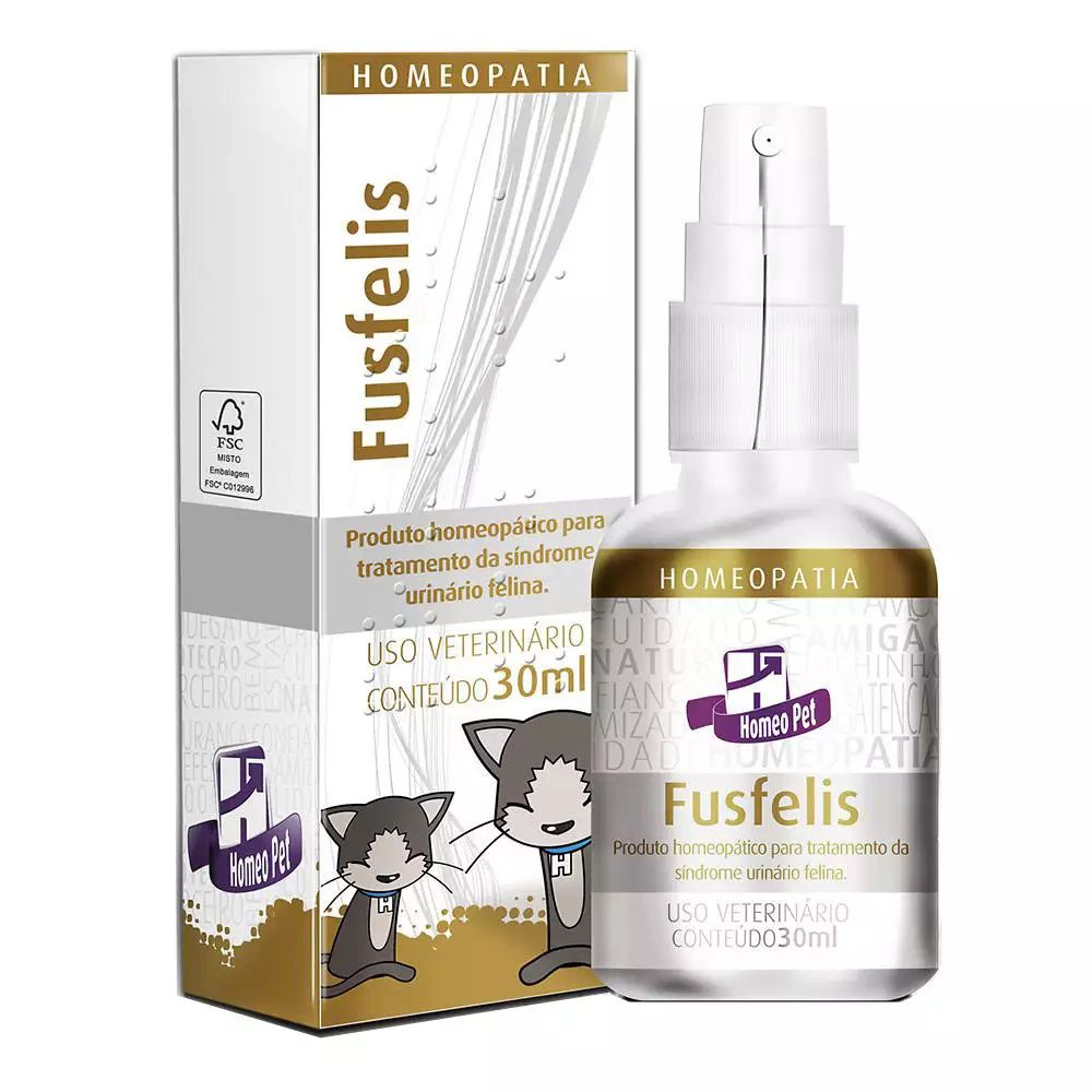 Fusfelis Homeopatia Real H Para Gatos 30ml