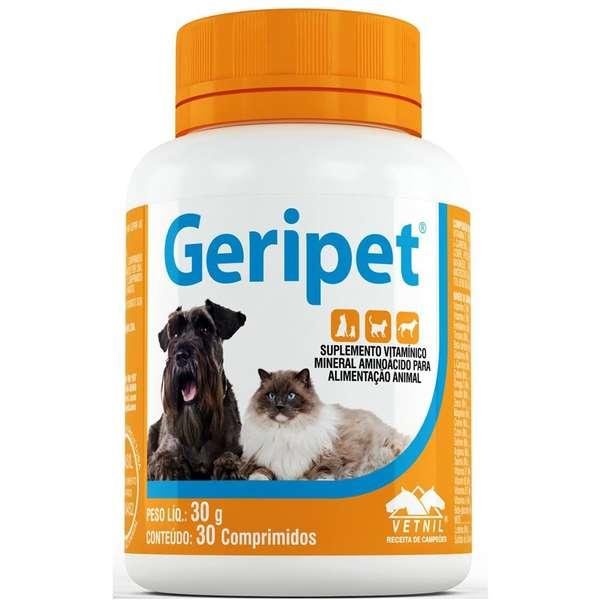 Geripet - 30 Comprimidos Suplemento P/ Cães E Gatos Idosos