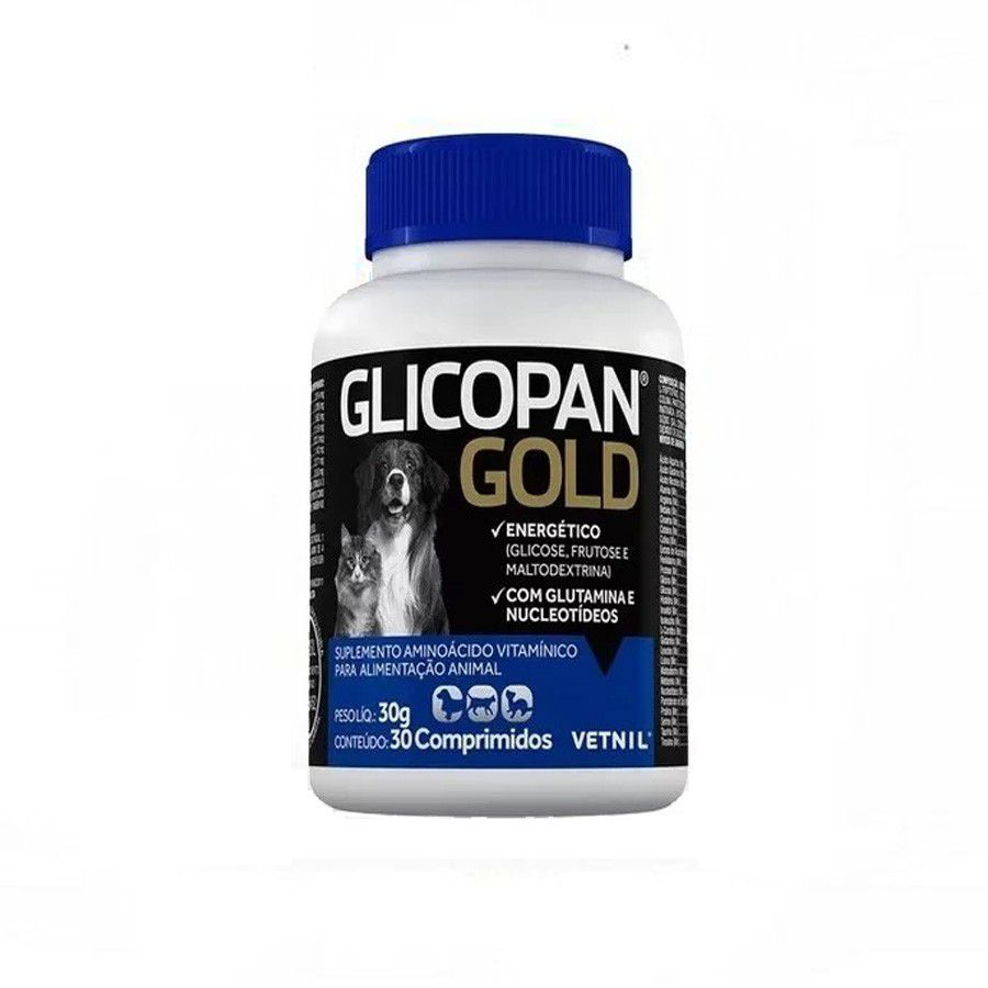 Glicopan Gold 30 Comprimidos Vetnil