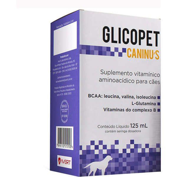 Glicopet Caninus 125 ml Suplemento vitamínico aminoacídico Avert
