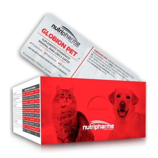 Globion Pet Suplemento 1000mg Cães e Gatos - 10 Blisters C/ 10 Comprimidos