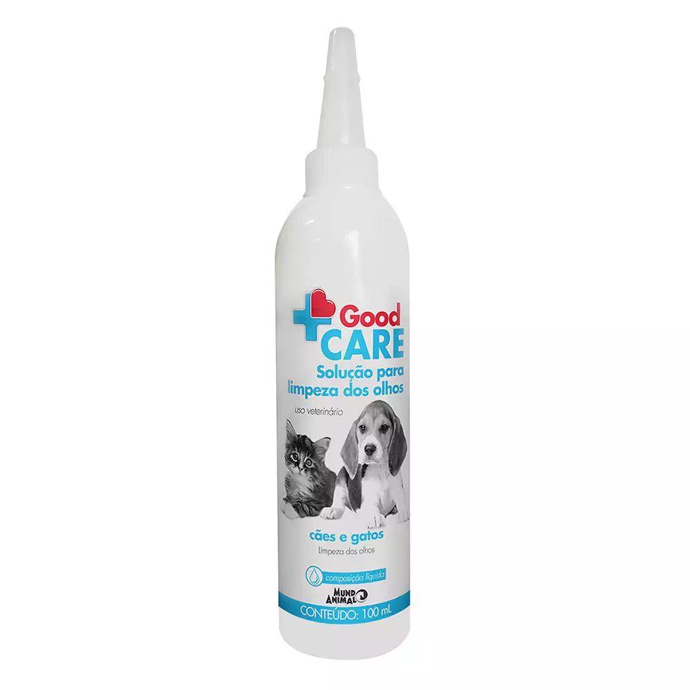 Good Care Solução para Limpeza dos olhos 100 ml Para Cães e Gatos