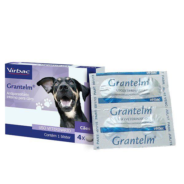 Grantelm Vermífugo Para Cães Virbac  4 Comprimidos