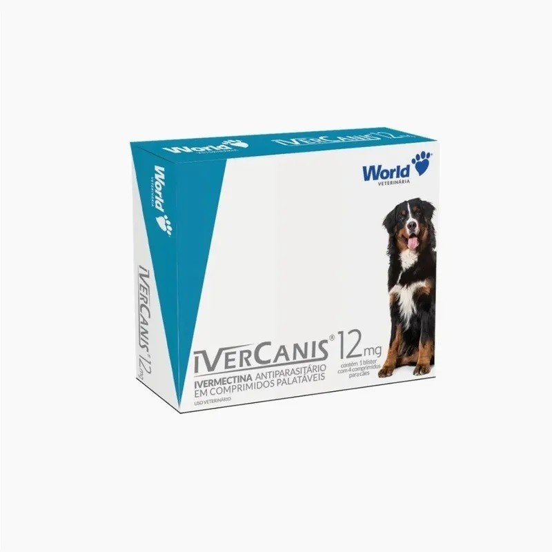 Ivercanis 12mg 4 Comprimidos