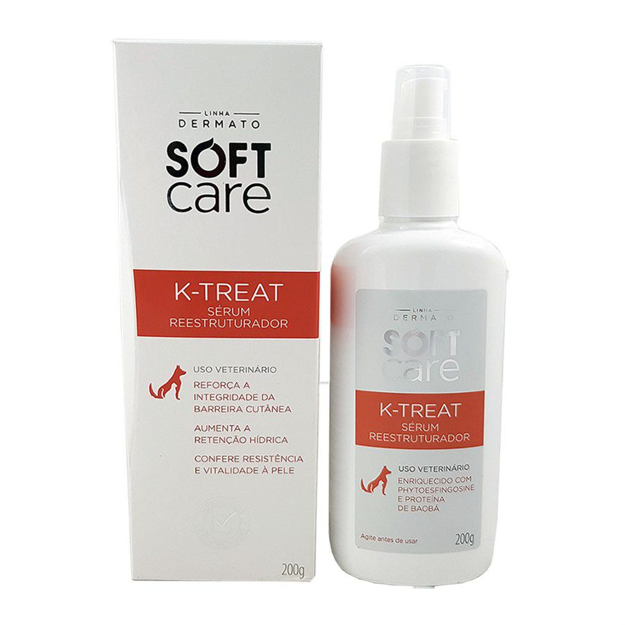K Treat Serum Reestruturador Caes Gatos 200g Soft Care