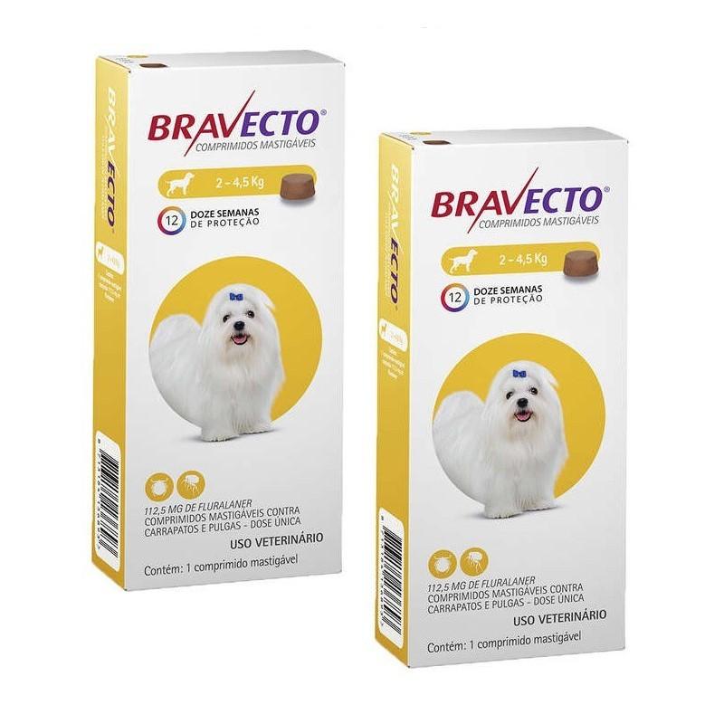 Kit 2 Antipulgas Bravecto De 2 a 4,5 Kg Original