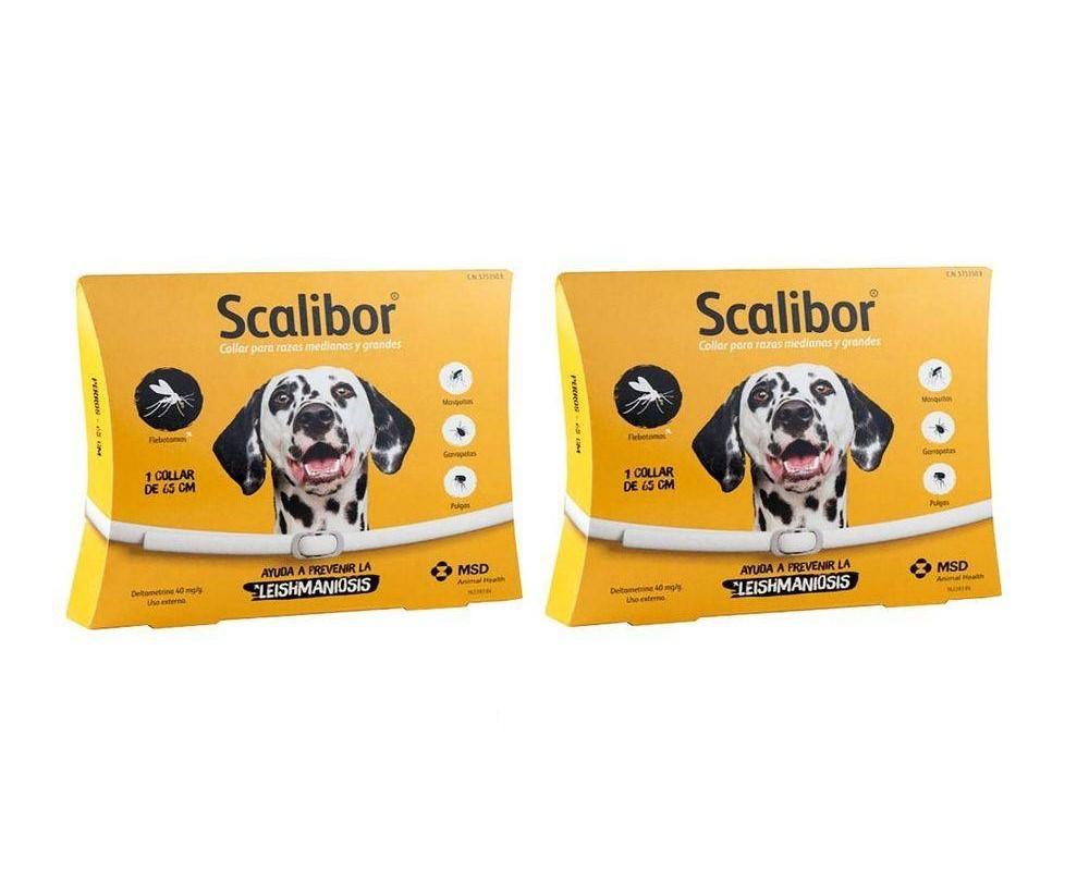 Kit 2 Coleira Scalibor Antiparasitas Para Cães Grande