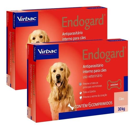 Kit 2 Endogard 30kg C/ 6 Comprimidos Para Cães