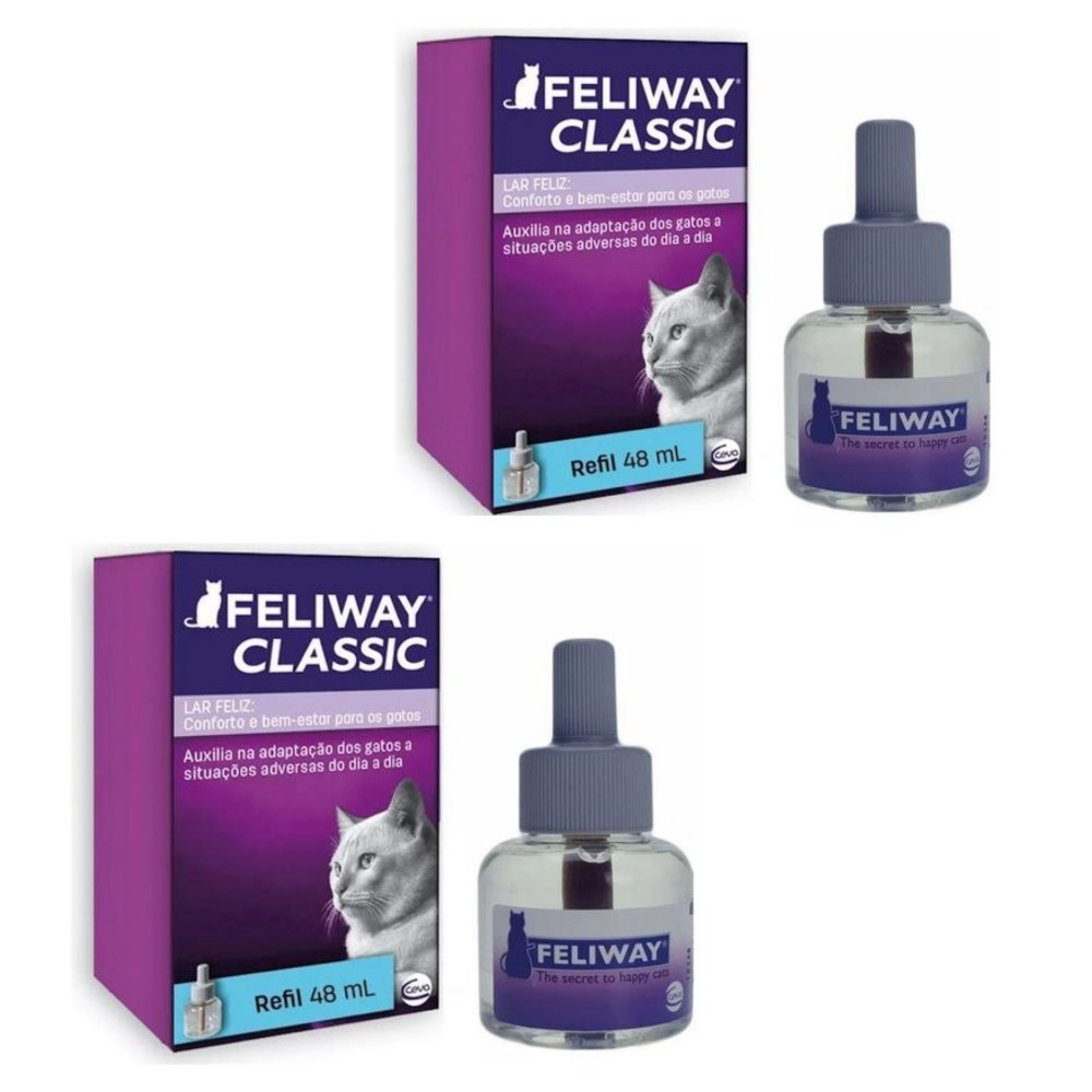 Kit 2 Feliway Classic Refil Ceva 48ml