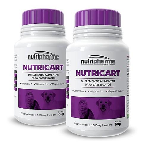 Kit 2 Nutricart 1000 Suplemento Alimentar 60 Comprimidos