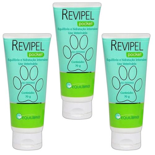 Kit 3 Creme Revipel Pocket 70g Equilíbrio E Hidratação
