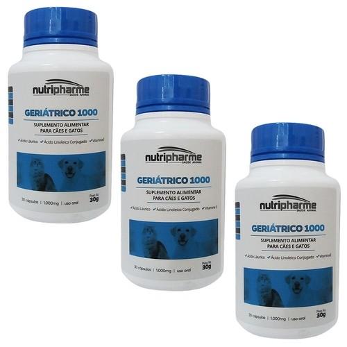 Kit 3 Geriátrico 1000 30 Cápsulas Suplemento Vitamínico