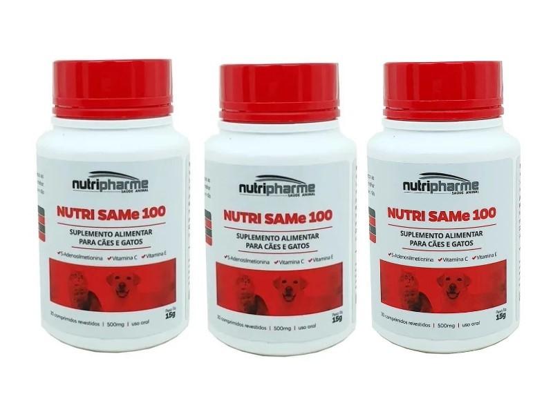 Kit 3 Nutri Same 100 Com 30 Comprimidos