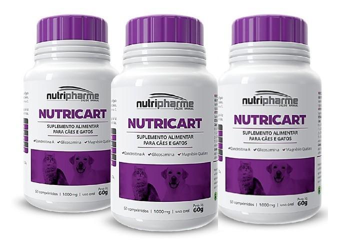 Kit 3 Nutricart 1000 Suplemento Alimentar 60 Comprimidos