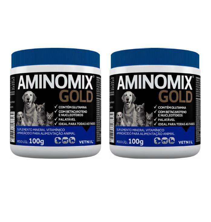 Kit 2 Aminomix Gold Vetnil - 100g