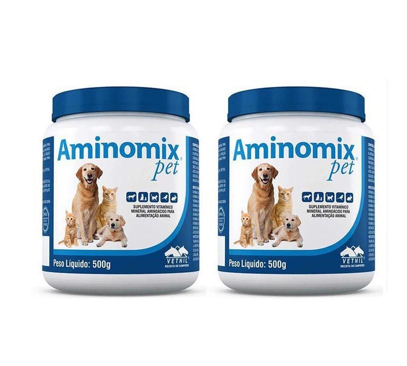 Kit 2 Aminomix Pet 500g Vetnil Suplemento