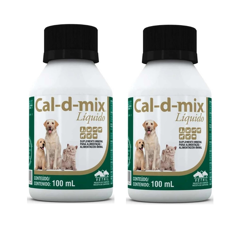 Kit c/ 2 Cal-d-mix 100 Ml Pet- Vetnil