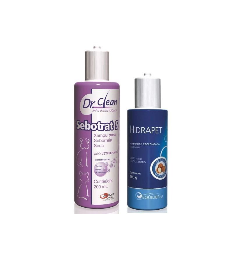 Kit Shampoo Sebotrat S 200ml + Hidrapet Creme 100g