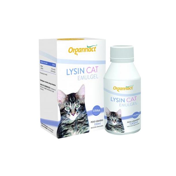 Lysin Cat Emulgel 100 Ml Organnact