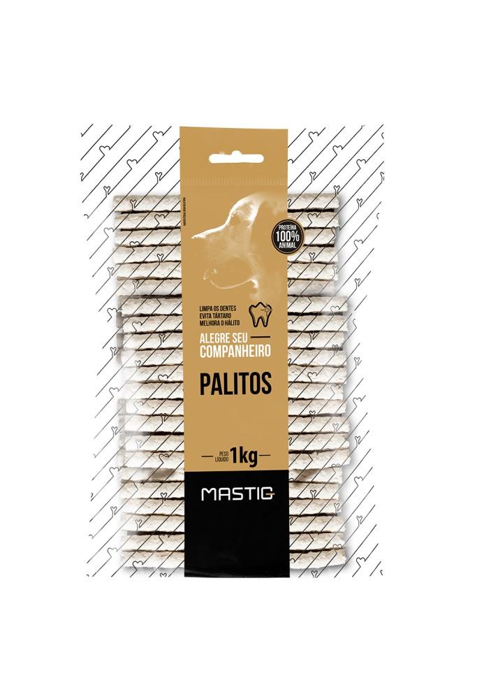 Mastig Osso Palito Natural 8mm Premium Para Cães 1kg