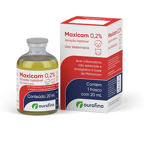 Maxicam 0,2% Solução Injetável Ouro Fino 20ml