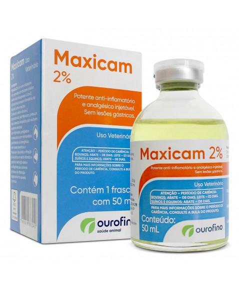 Maxicam 2% Solução Injetável Ouro Fino 50ml