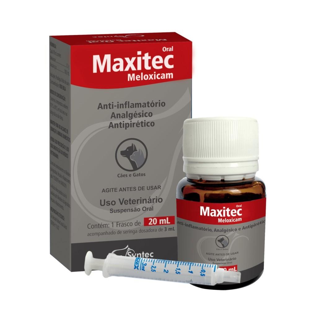 Maxitec Oral Meloxicam 20ml Syntec Para Cães e Gatos