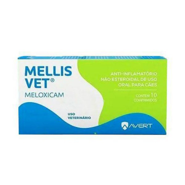 Mellis Vet Meloxicam 2mg Anti-inflamatório 10 Comprimidos