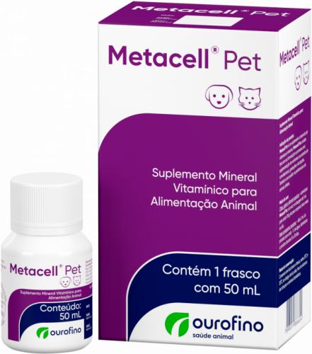 Metacell Pet Suplemento Mineral Vitamínico Ouro Fino 50ml