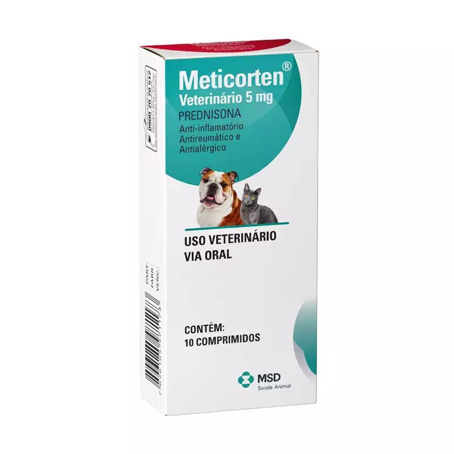 Meticorten 5mg Anti-Inflamatório 10 Comprimidos